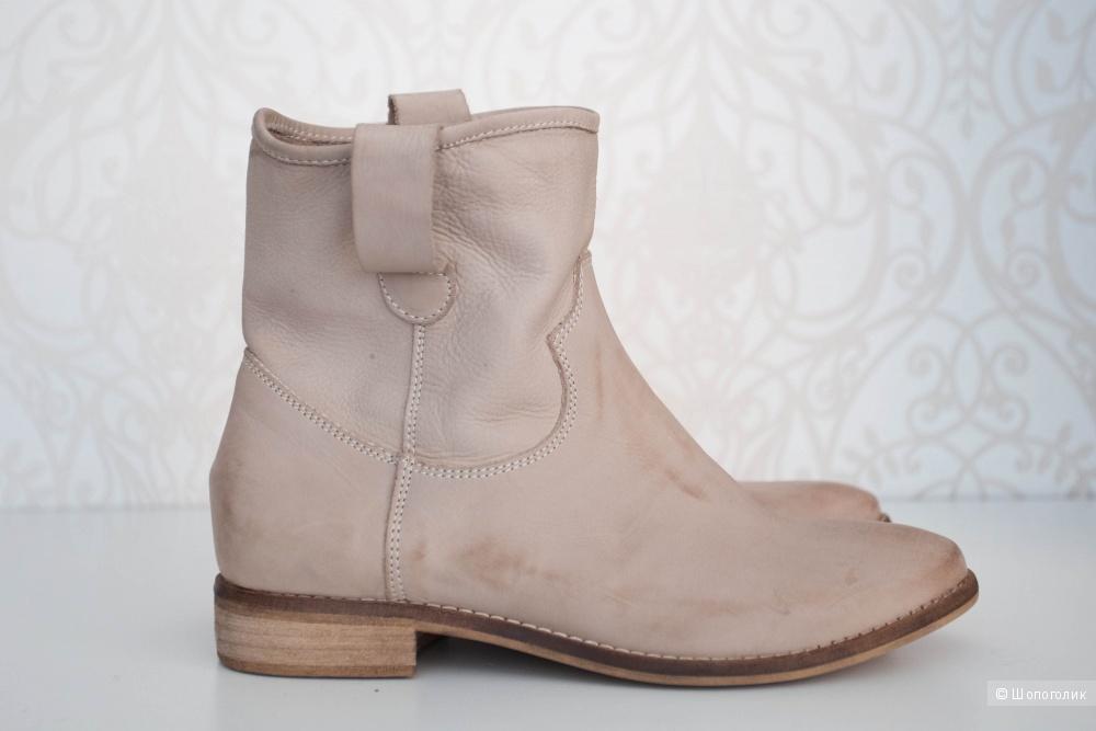 Итальянские кожаные ботинки, 36/37 размер