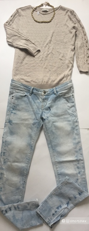 Сет свитер Goldi размер с, джинсы no name размер 42/44 и украшение цепь