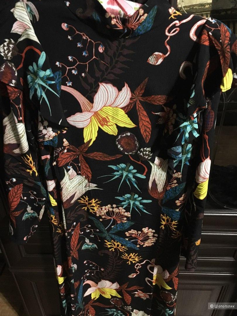 Цветочное платье HM 34 размер