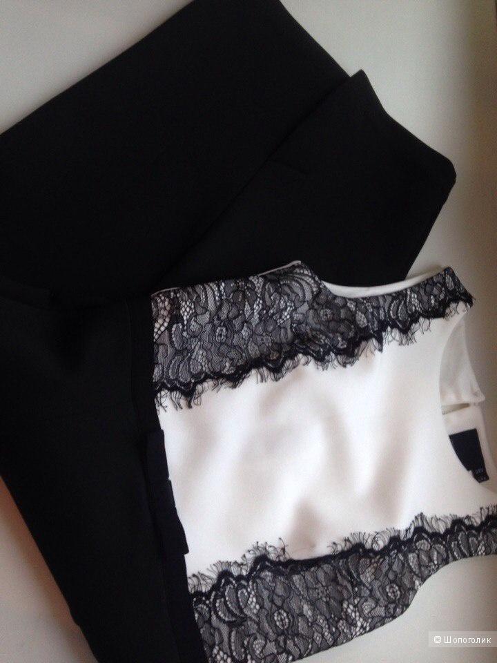 Платье миди с кружевными вставками ASOS