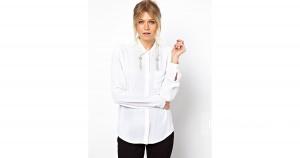 Рубашка с декоративной отделкой воротника ASOS