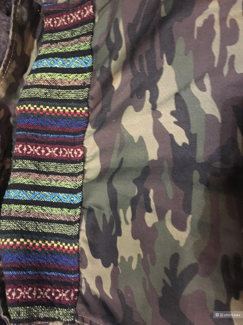 Куртка камуфляжной расцветки с гобеленом Glamorous 42 размер