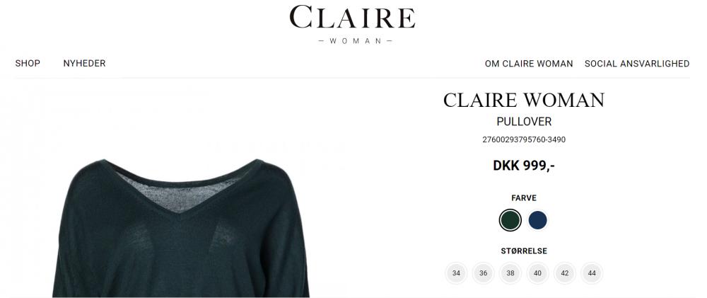 Claire Group( Дания) джемпер из мериноса, 44-46