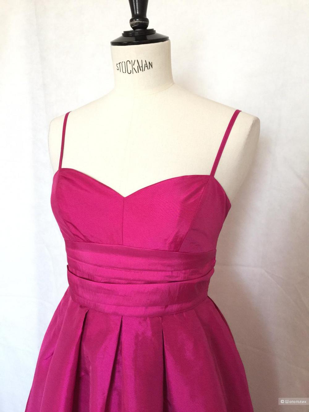Коктельное платье цвет фуксии марки Ginatricot размер s