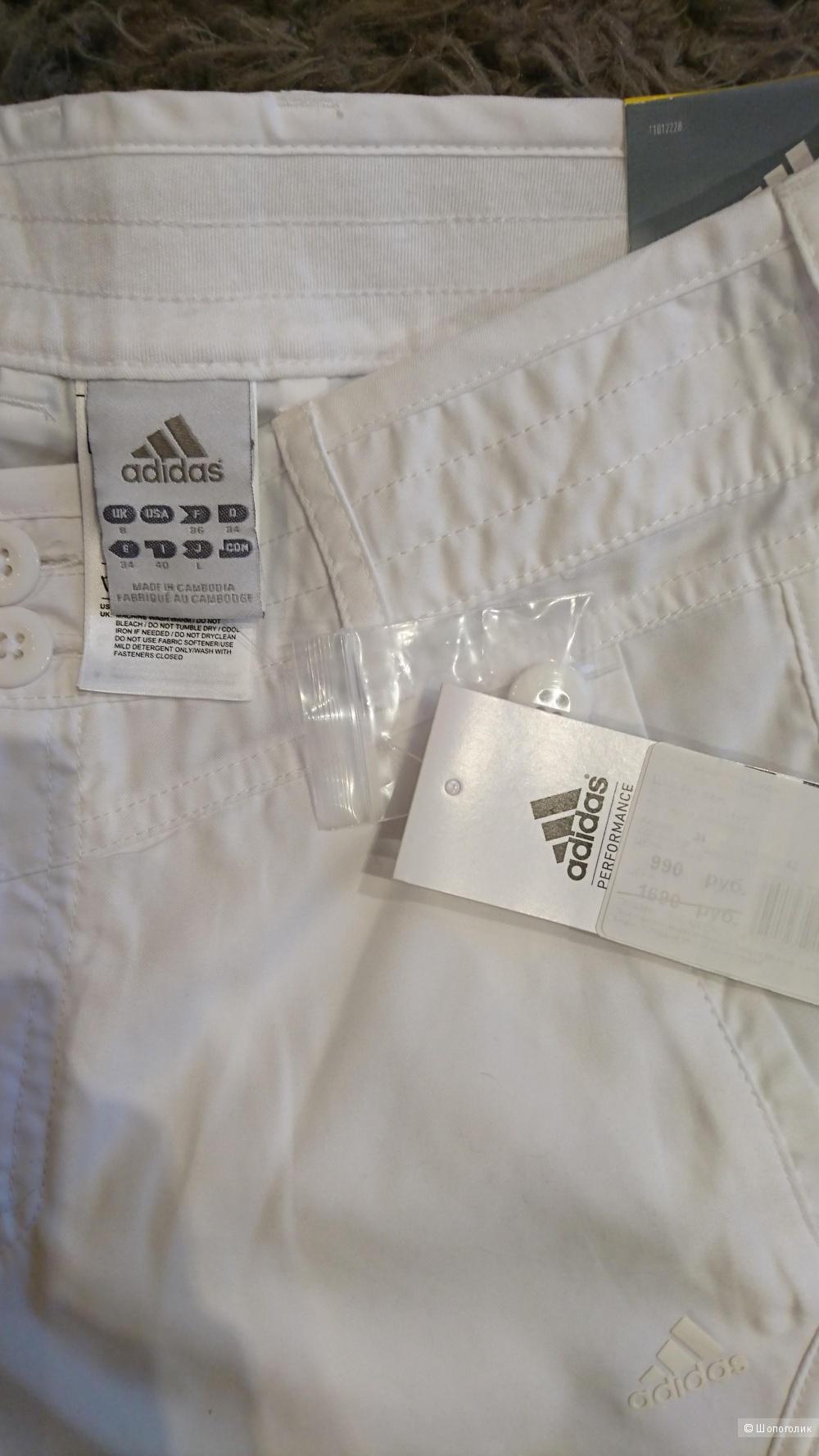 Белые шорты Adidas, размер 42-44