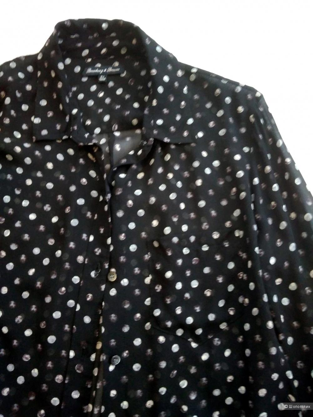 Черная блузка в горошек J.CREW U.K серия Broadway&Brooms 42-44RUS