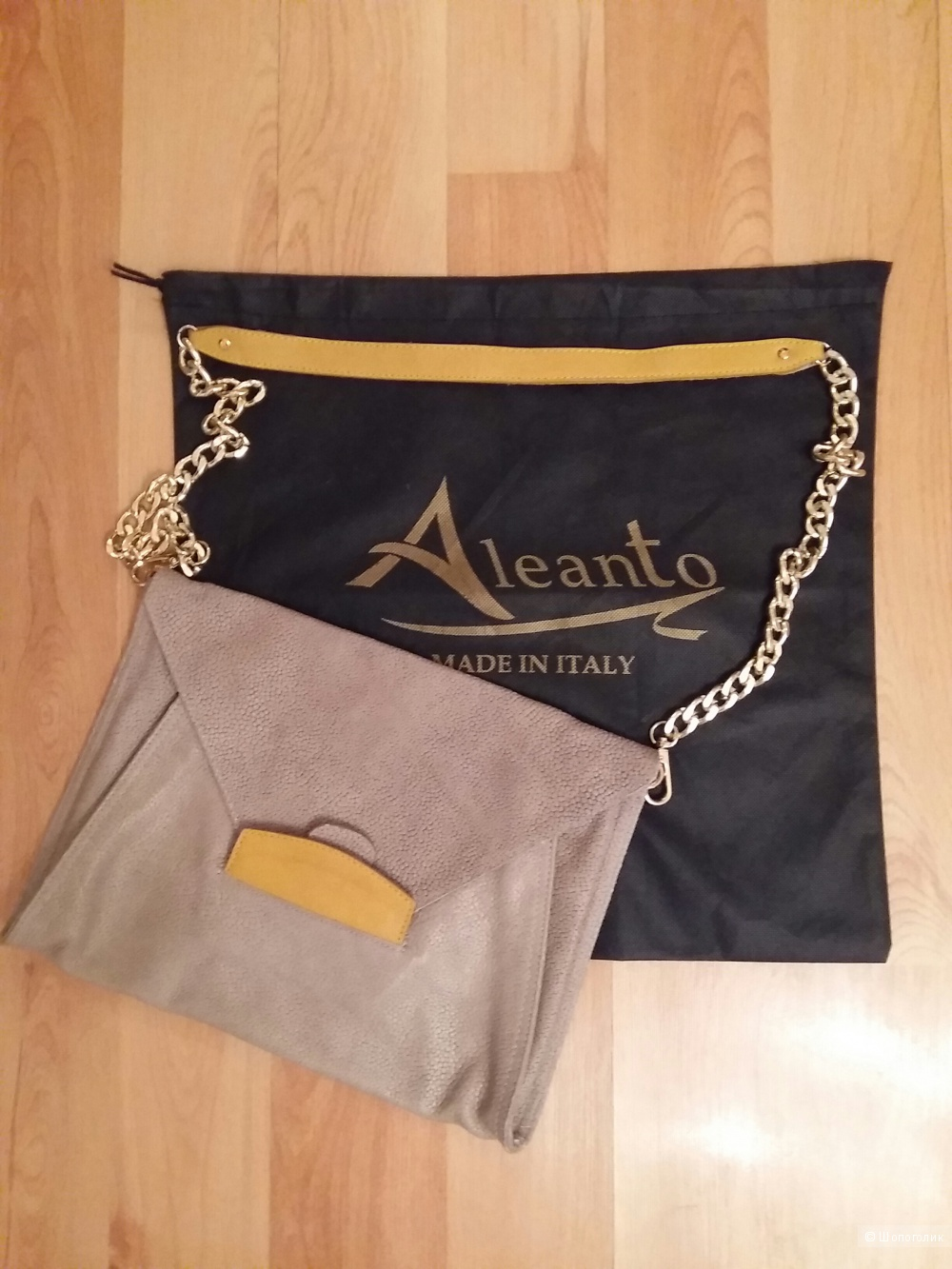 Сумка кожаная ,Италия.,  бренд ALEANTO.