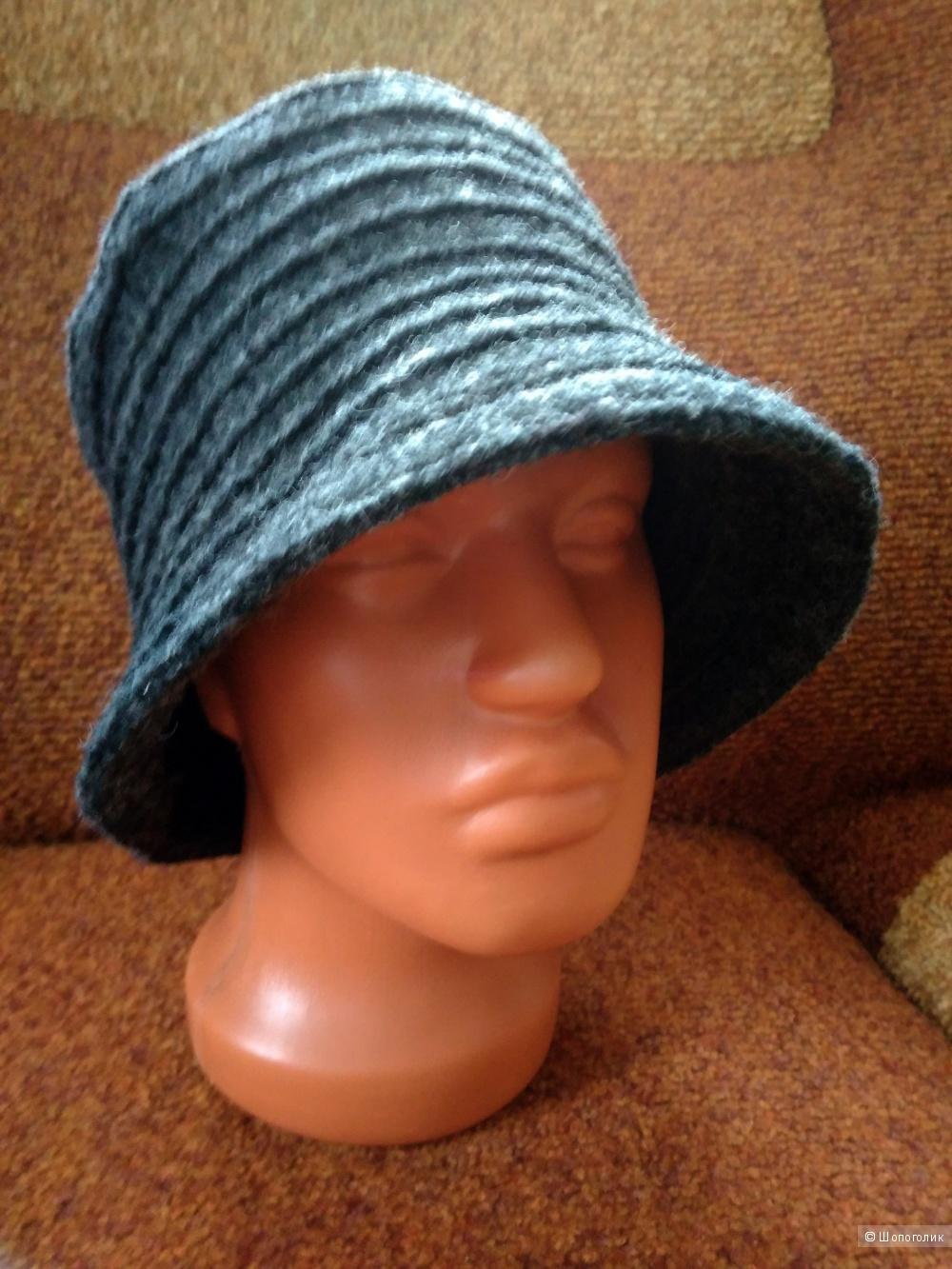 Серая шляпка-трансформер Италия единый размер