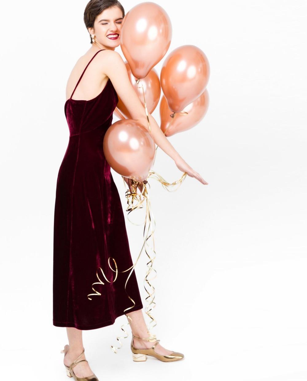 Бархатное платье-комбинация  12 Storeez размер М