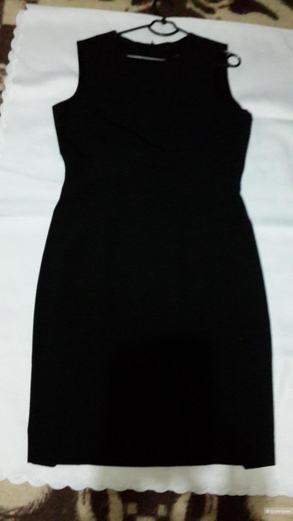 Платье черное бренда ZARA BASIC размер 46-48 Б/У