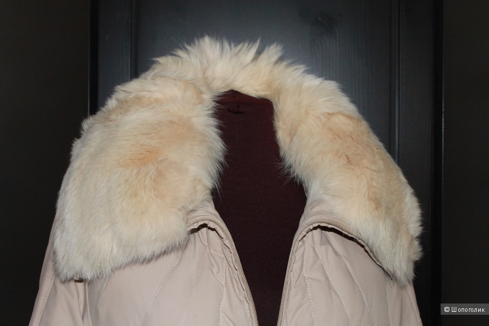 Зимнее Пальто Пуховик Бежевое Depeche Mode 44-46 Размер