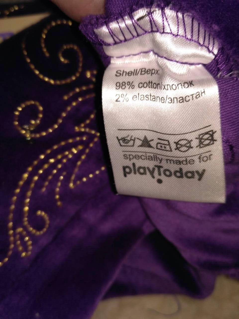 Велюровые бриджи для девочки PlayToday, р-р 98 (3 года)