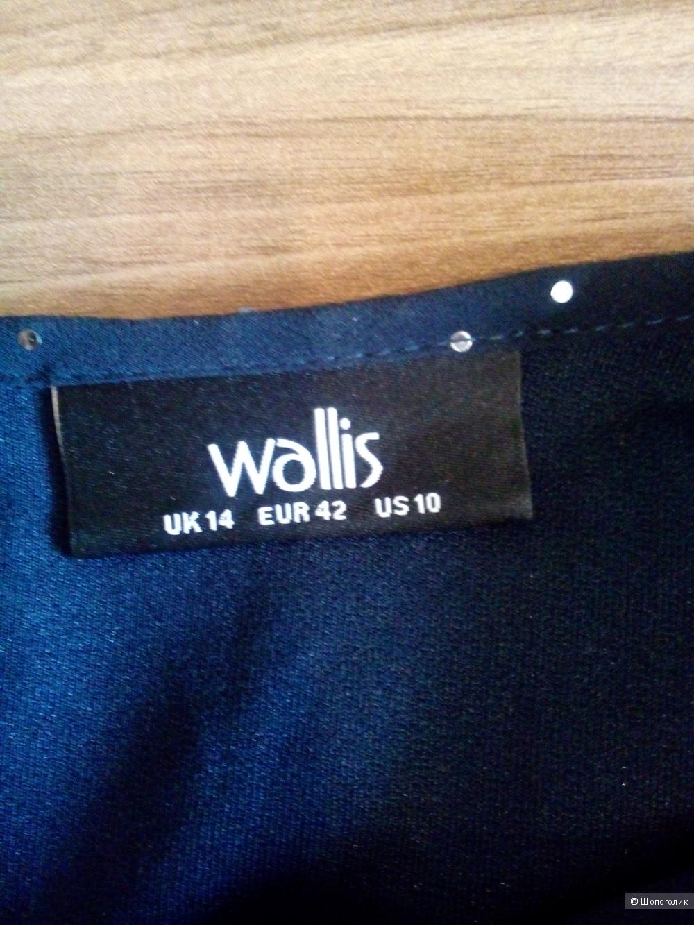 Блузка WALLIS Англия серо-дымчатого цвета в размере 14GB(46-48)