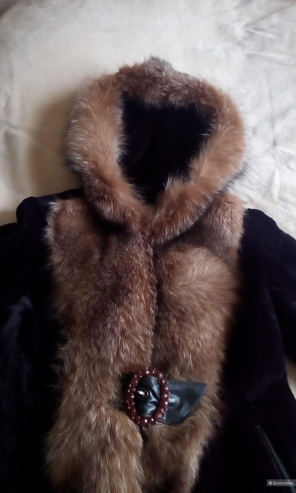 Шуба мутон российский размер 48-50