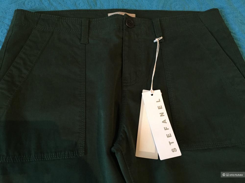 Джинсовые штаны Stefanel, темно-зеленого цвета, 46-48ру