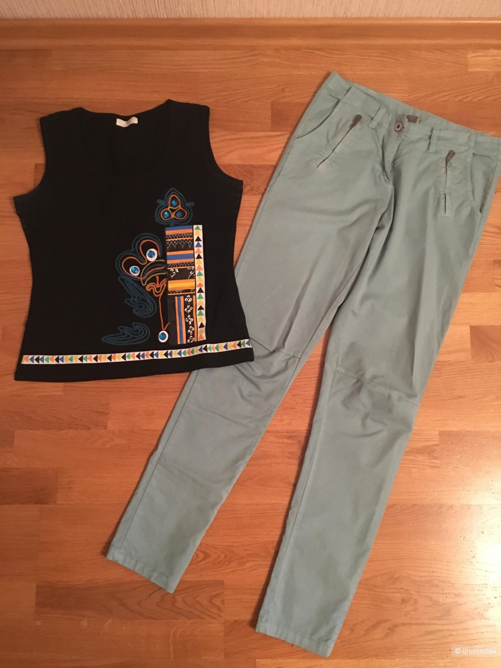 Летний сет брюки/топ S