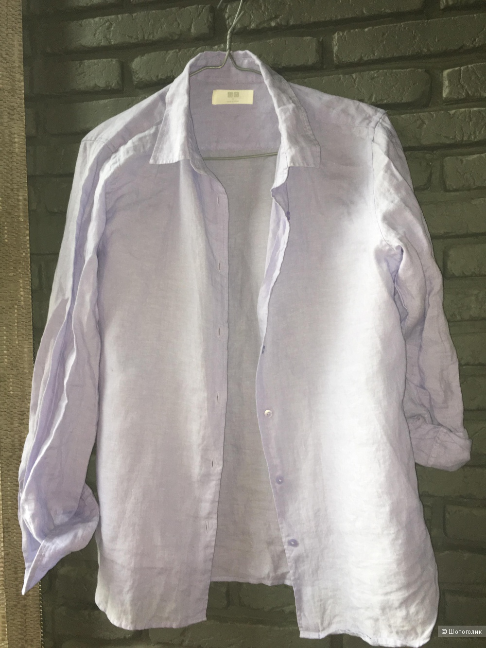 Рубашка Uniqlo, оригинал,  размер S, лен