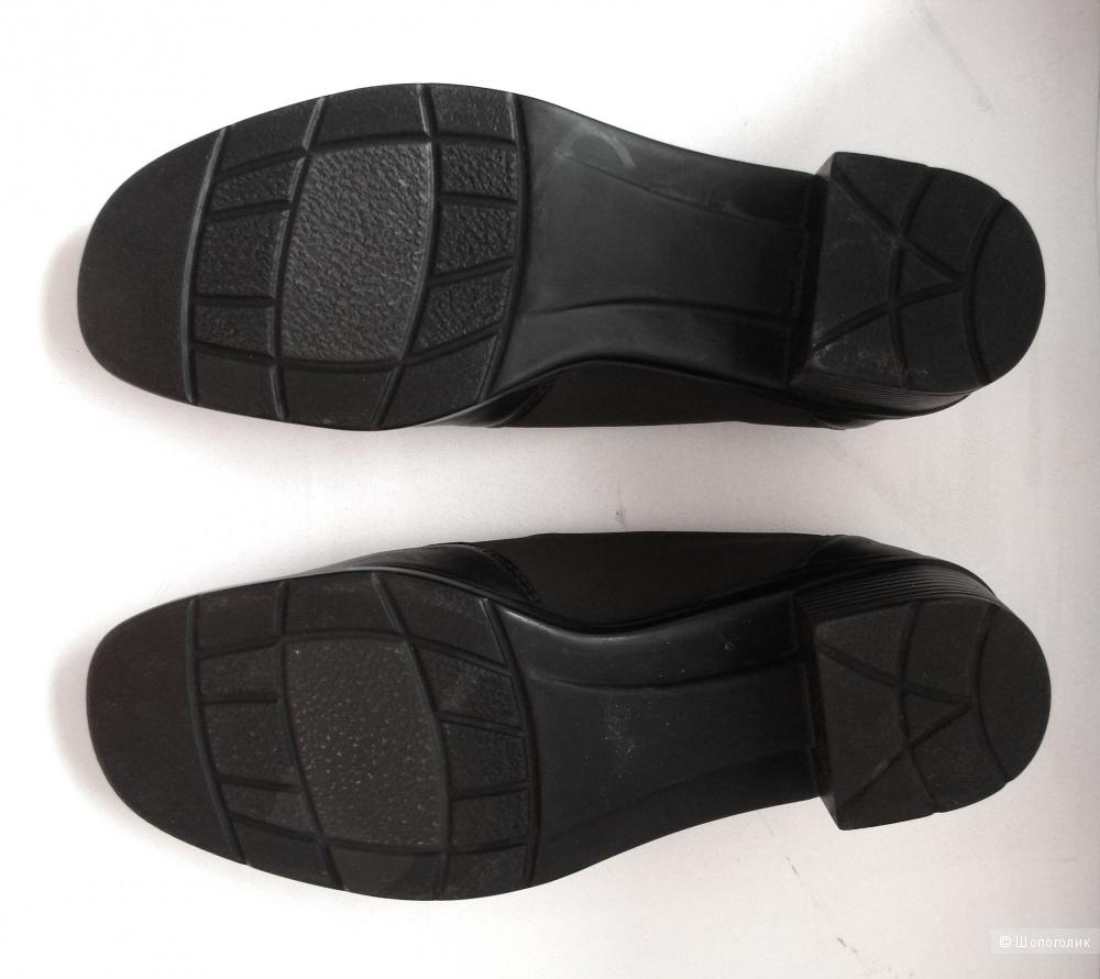 Кожаные туфли-ботинки, 37 размер, portania