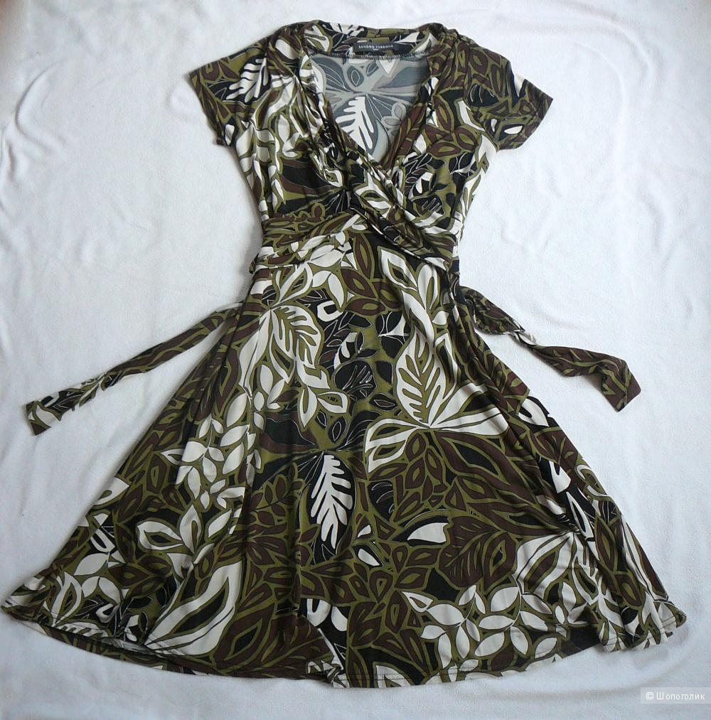 Платье SANDRO FERRONE Roma с растительным узором 44-46RUS