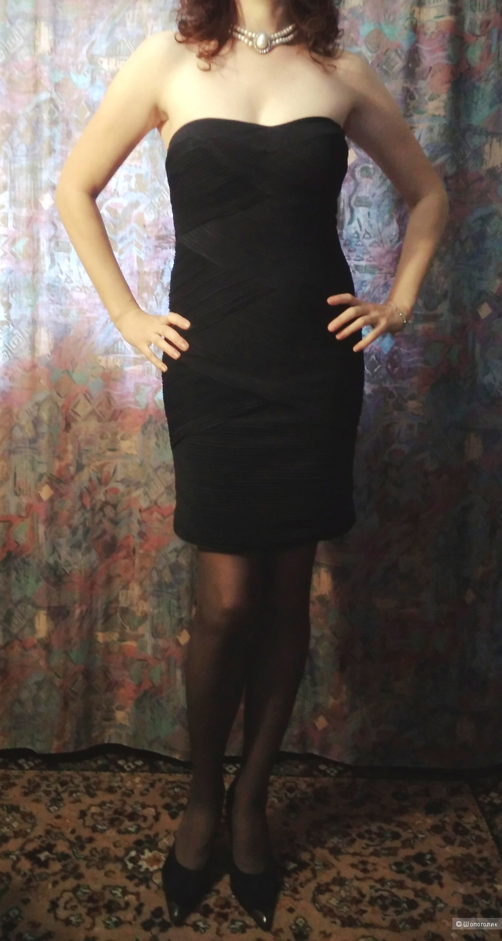 Черное коктейльное платье Piaza Italia серия Elegant Couture 42-46RUS