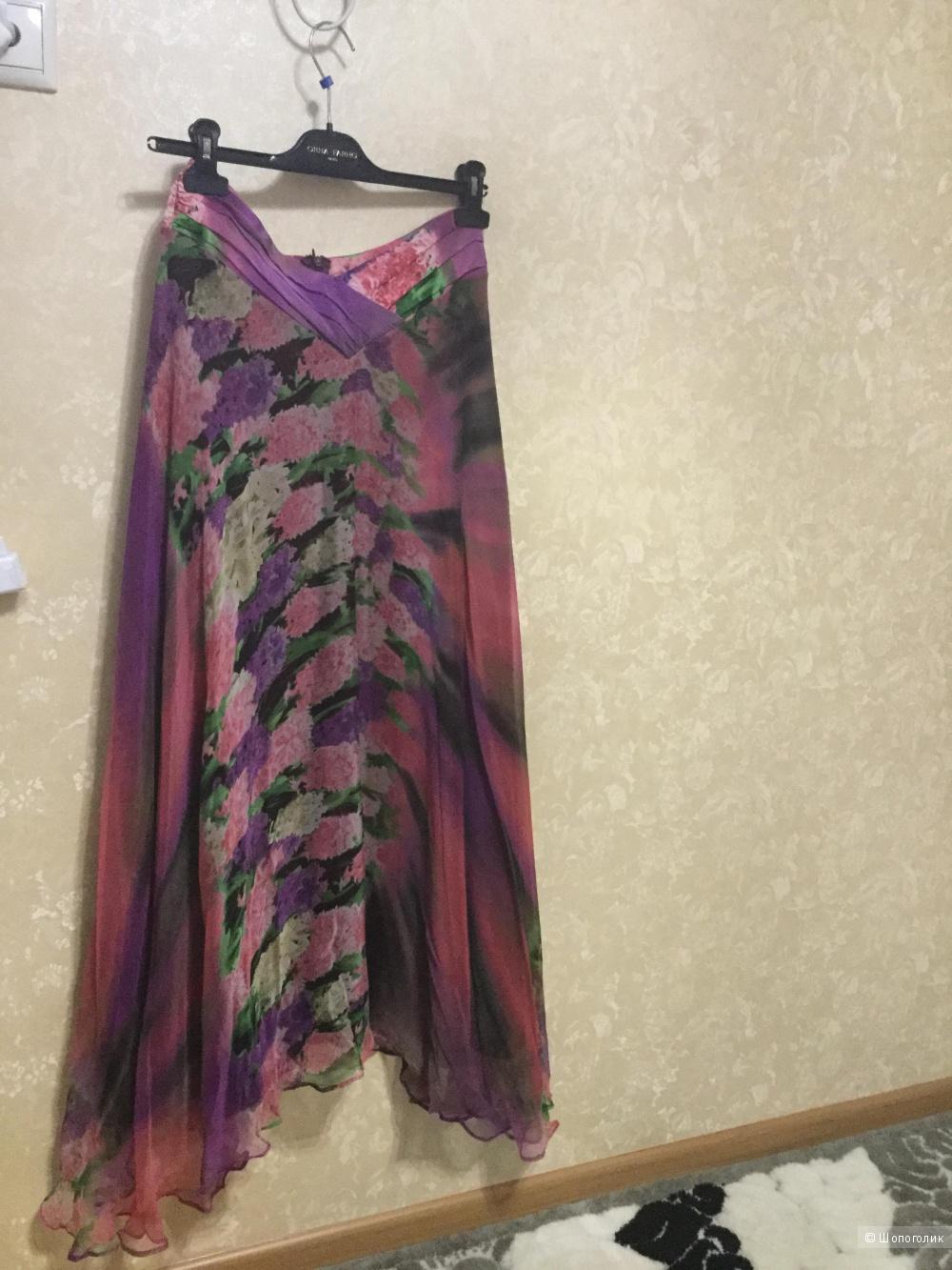 """Шелковая юбка """"ORNA FARHO"""" размер 44-46."""