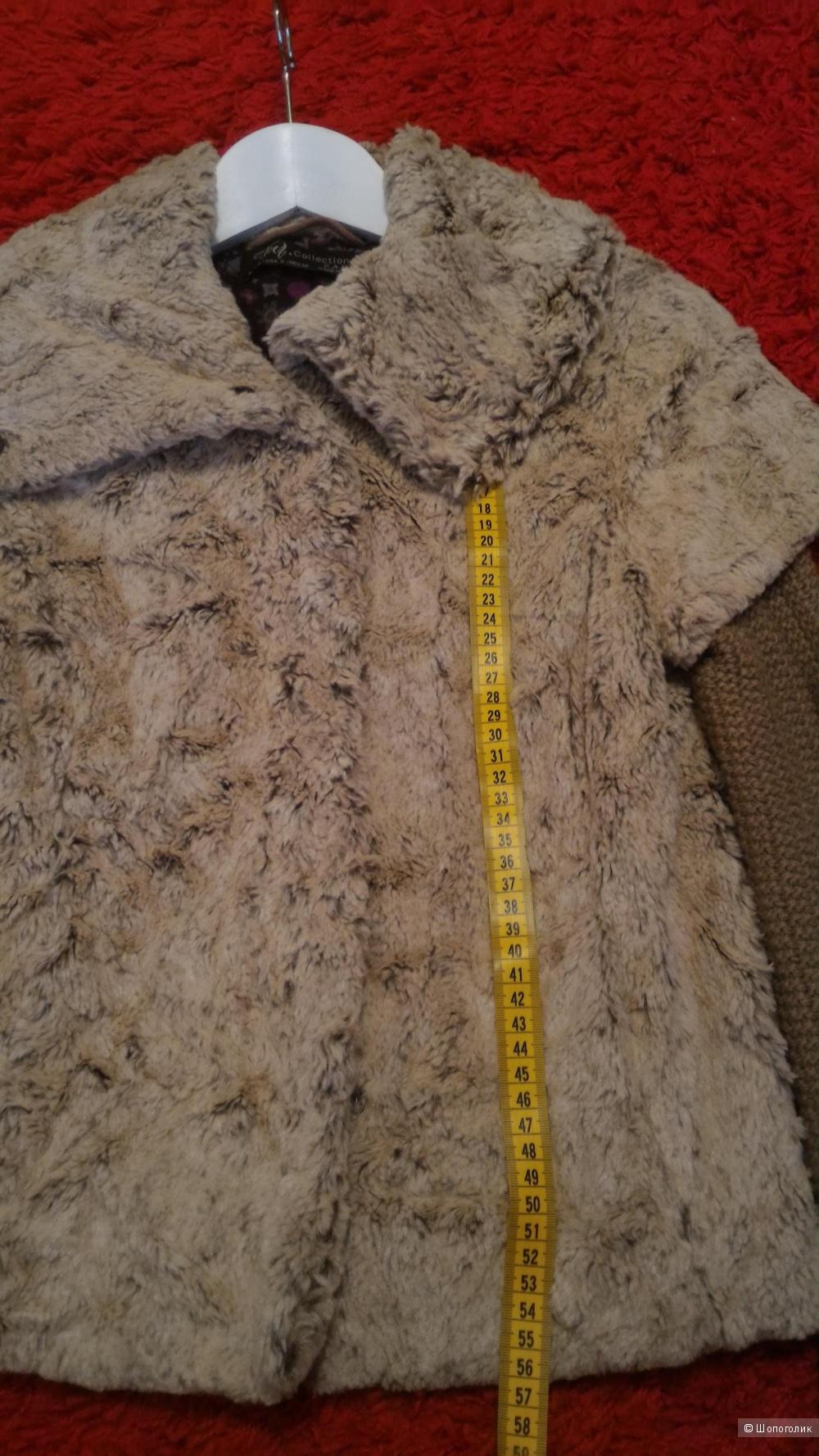 Меховое полупальто Zara, размер S
