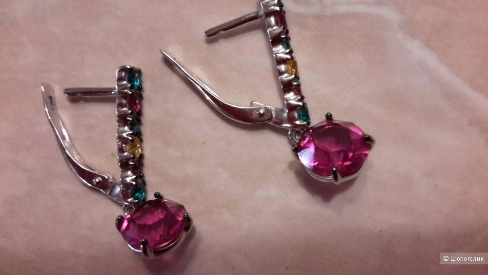 Серебряные серьги SOKOLOV с кристаллами Swarovski