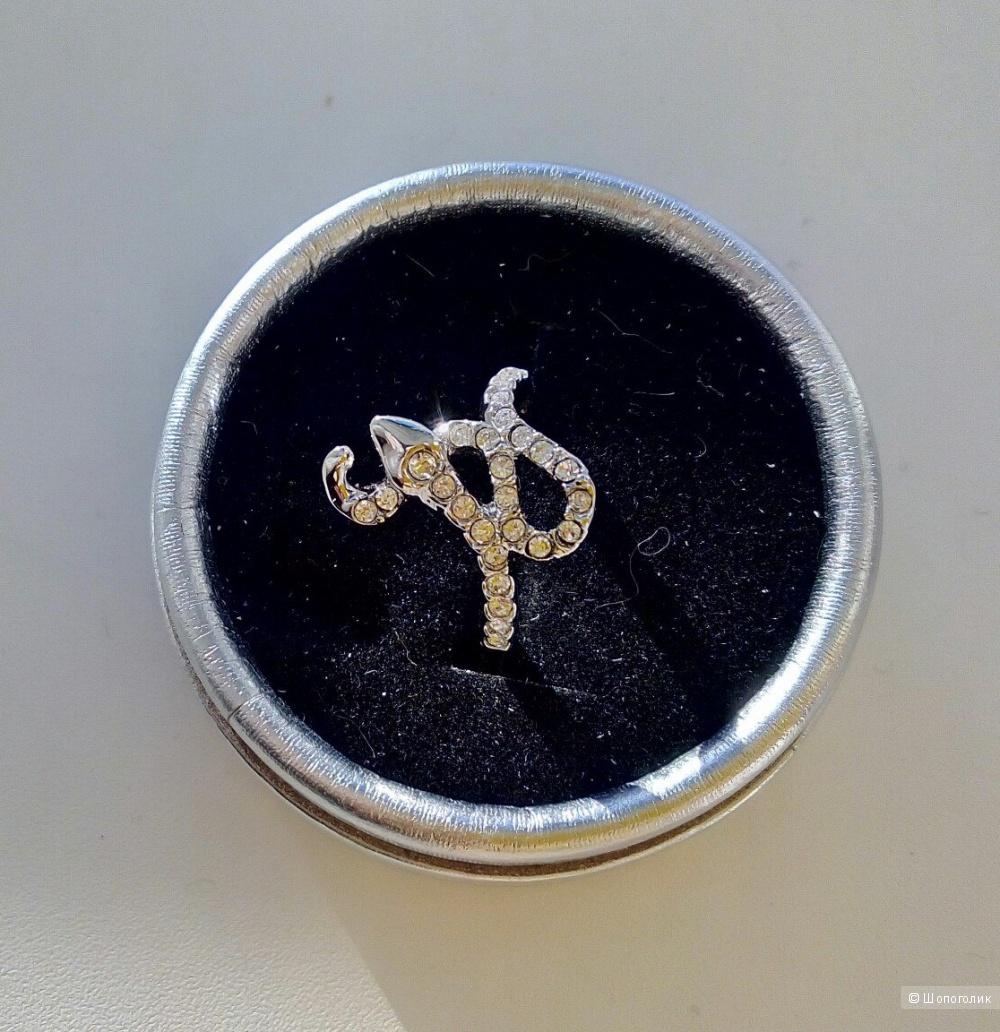Кольцо-змейка, размер 16,5