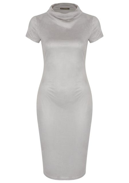 Новое серое замшевое платье Love Republic 42/44