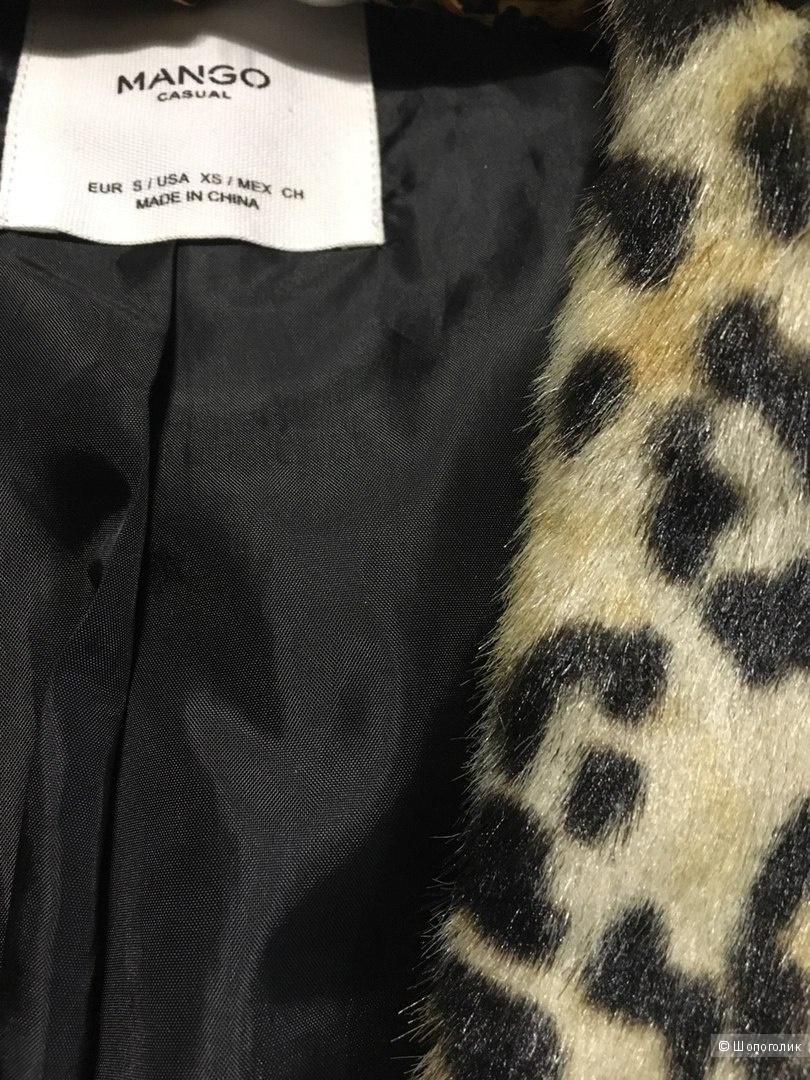 Шикарное леопардовое пальтишко Mango размер S