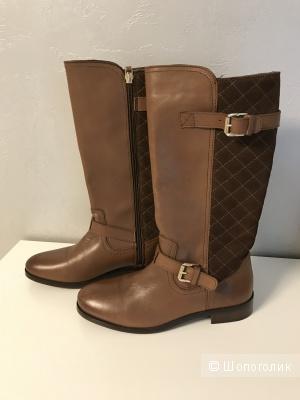 Новые кожаные осенние сапоги Massimo Dutti размер 37
