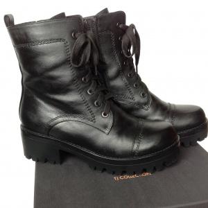 Зимние ботинки на протекторной подошве, Tj Collection, натуральная кожа, р. 40