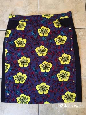 Яркая юбка-карандаш KENZO, размер FR44 на росс.48-50