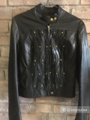 Куртка кожаная Roberto Cavalli, оригинал, размер 42-44