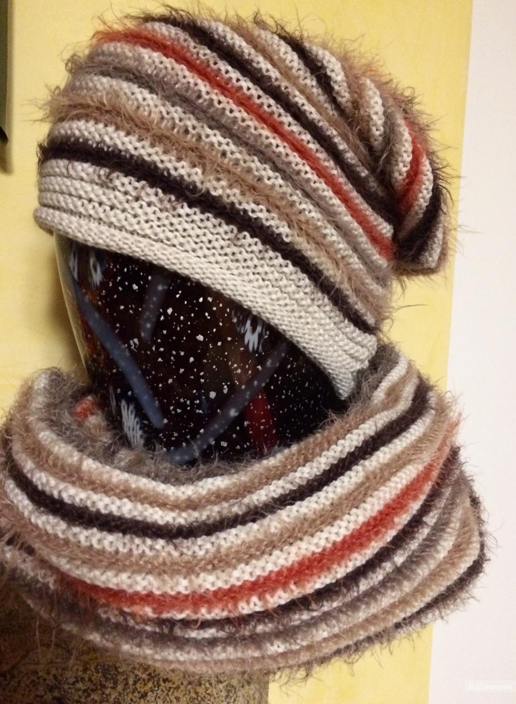 Комплект шапка и шарф-снуд Loriblu