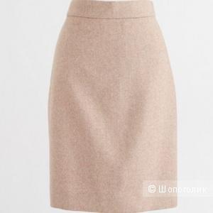 Шерстяная юбка-карандаш J Crew Factory размер 42-44