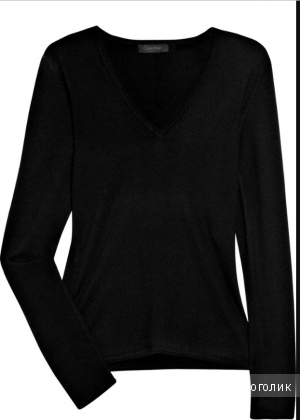 Черный кашемировый пуловер Calvin Klein Collection размер L (на M/S)