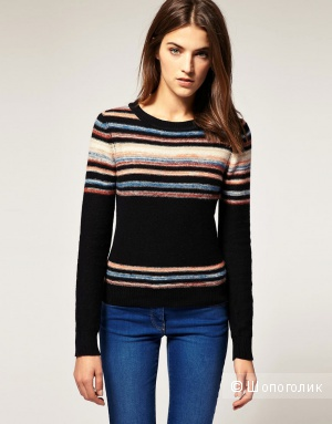 Warehouse Stripe Crew Jumper, 10 UK