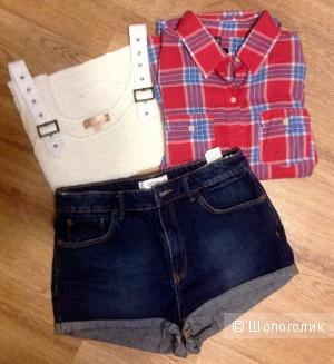 Комплект , шорты /MANGO +рубашка/Gloria Jeans + топ/SEEN, разм. 42-44