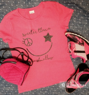 Комплект, футболка/Blukids + рюкзак/New Look + кроссовки/LK Collection, разм. 37,5