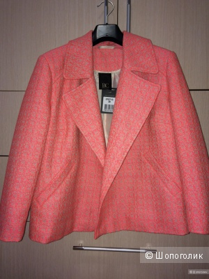Жакет BC,48-52 размер, розовый жаккард