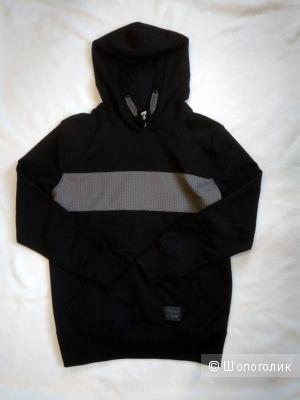 Подростковая черная худи YIGGA р146-152