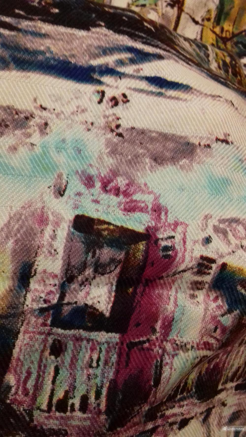 Платок из кашемира и шёлка, 90*90