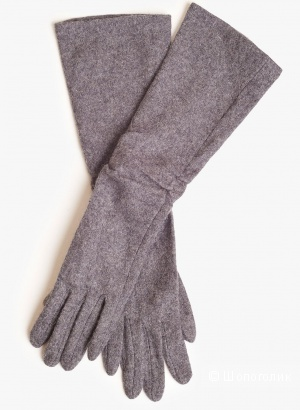 Новые длинные перчатки с шерстью Zarina. one size