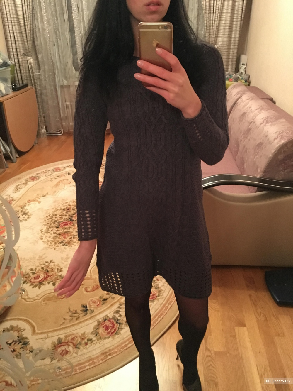 Зимнее платье S