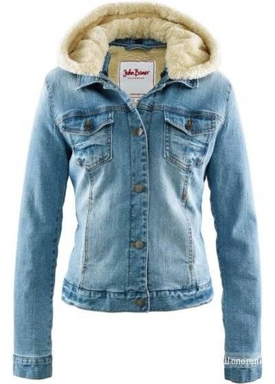 Джинсовая куртка John Baner с плюшевой подкладкой, 40 eu