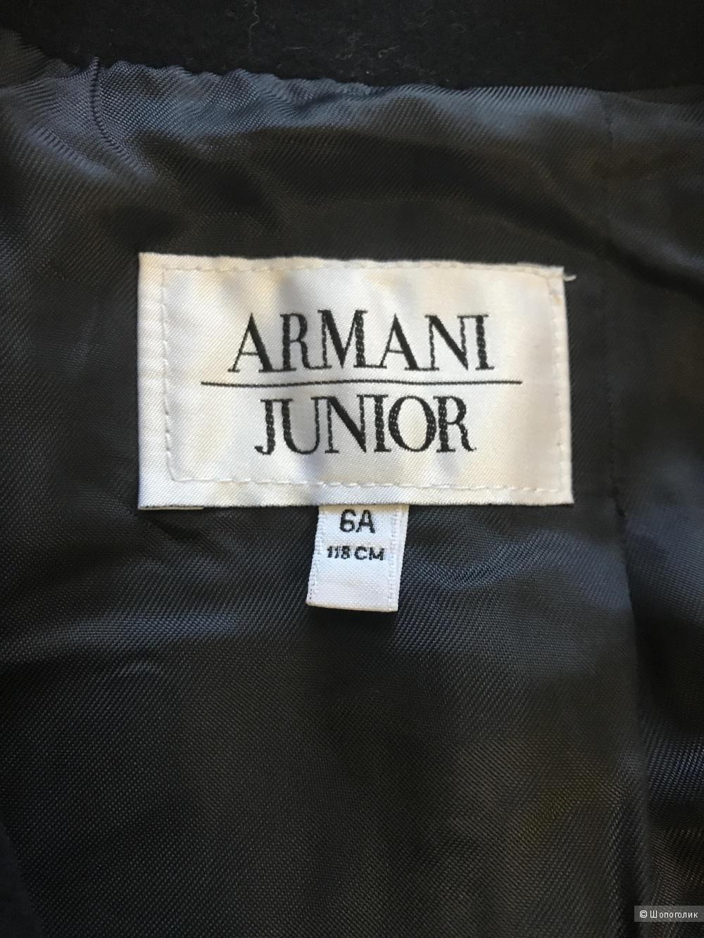 Шерстяное пальто Armani на мальчика 6/7 лет