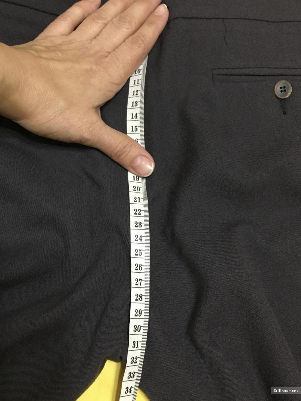Брюки-палаццо METRADAMO, 48 (Российский размер) дизайнер:46 (IT). Свинцово-серый