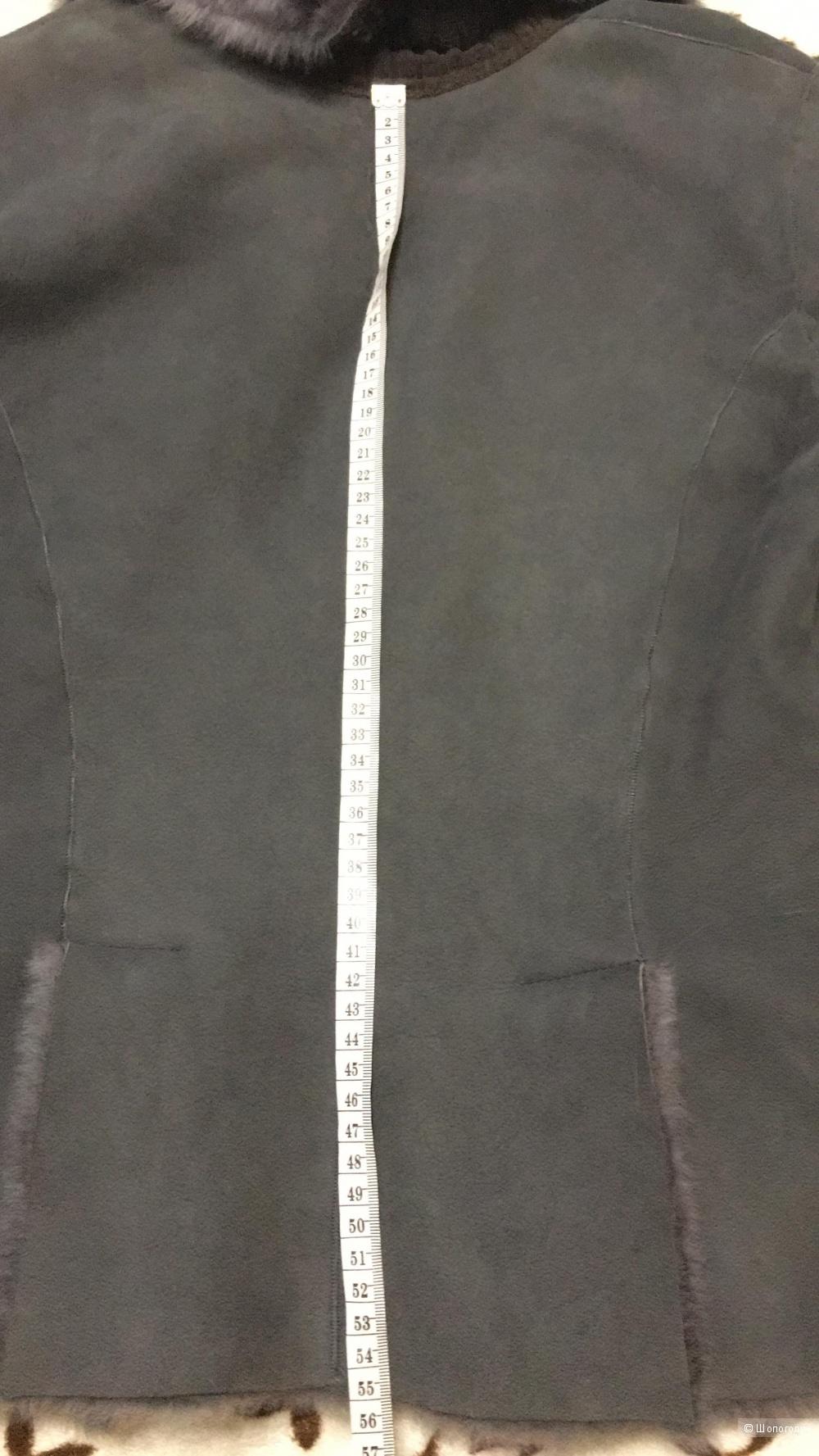 Натуральная дубленка LA ROSE, 48 (Российский размер) дизайнер:46 (IT). Серый