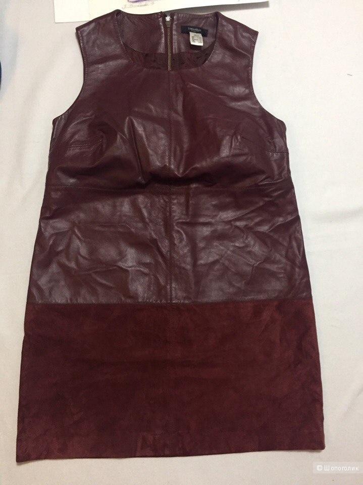 Новое кожаное платье SARA KELLY 14USA